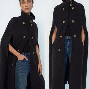 NWT ZARA | Limited Edition Wool Long Cape Coat